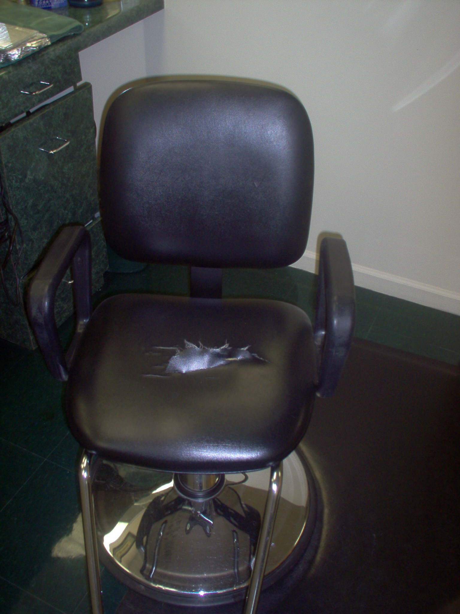 how to reupholster a barber chair